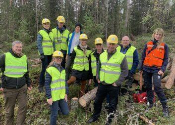 Mistra och Skogsindustrierna på besök hos SCA i Sundsvall