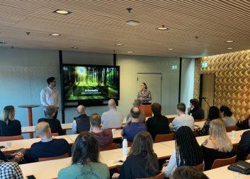 Masterstudenter pitchade digitala koncept för Holmen